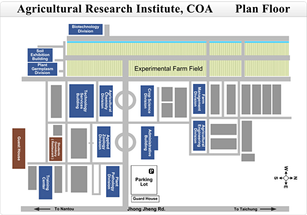 Coa Campus Map.Taiwan Agricultural Research Institute Council Of Agriculture